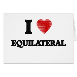 Amo EQUILATERAL Tarjeta De Felicitación