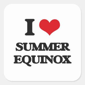 Amo equinoccio del verano pegatina cuadrada