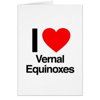 amo equinoccios vernales tarjeta de felicitación