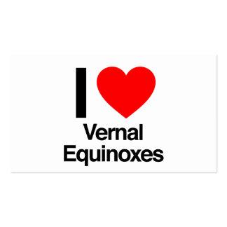 amo equinoccios vernales tarjetas de visita