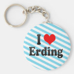 Amo Erding, Alemania. Ich Liebe Erding, Alemania Llaveros