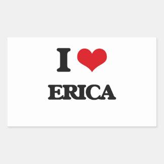 Amo Erica Pegatina Rectangular
