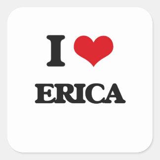 Amo Erica Pegatina Cuadrada