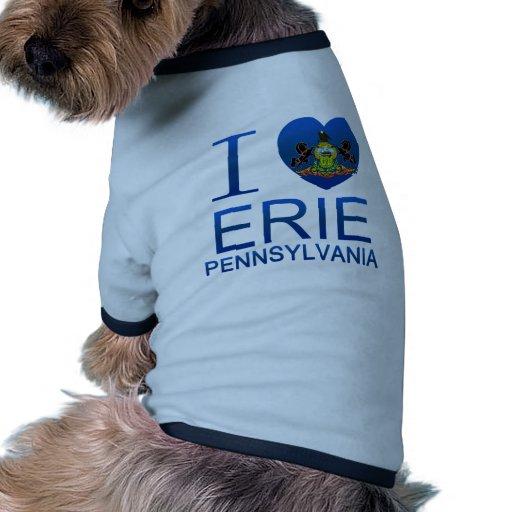 Amo Erie, PA Camisas De Perritos