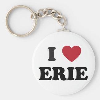 Amo Erie Pennsylvania Llavero Redondo Tipo Pin