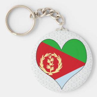 Amo Eritrea Llavero Redondo Tipo Pin