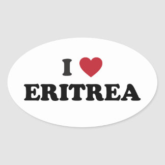 Amo Eritrea Pegatina Ovalada