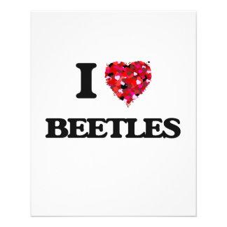 """Amo escarabajos folleto 4.5"""" x 5.6"""""""