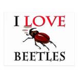 Amo escarabajos postal