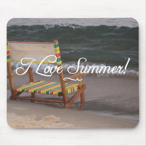 """""""Amo escena Mousepad de la playa del verano"""" Alfombrilla De Ratón"""