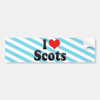 Amo escocés etiqueta de parachoque