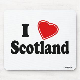Amo Escocia Alfombrilla De Ratones