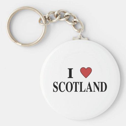 Amo Escocia Llavero Redondo Tipo Pin
