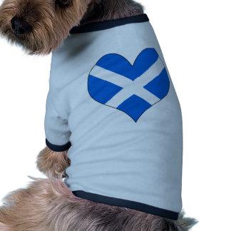 Amo Escocia Camiseta Con Mangas Para Perro