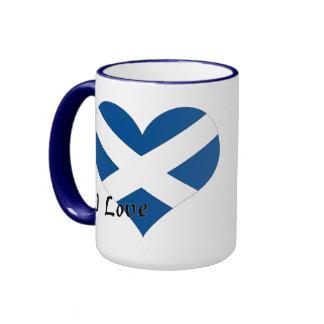 Amo Escocia Taza De Dos Colores