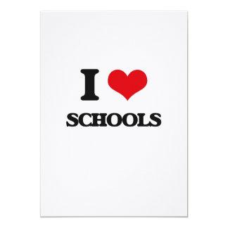 """Amo escuelas invitación 5"""" x 7"""""""