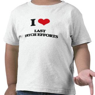 Amo esfuerzos pasados de la zanja camisetas
