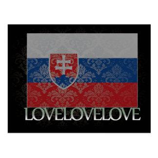 Amo Eslovaquia fresca Postales