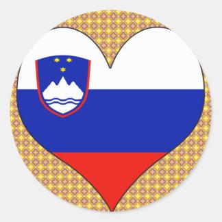 Amo Eslovenia Pegatina Redonda
