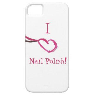 Amo esmalte de uñas funda para iPhone 5 barely there