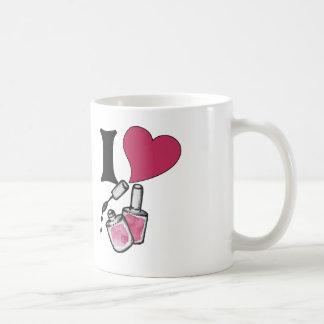 Amo esmalte de uñas taza de café