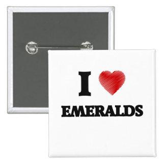 Amo esmeraldas pin cuadrado