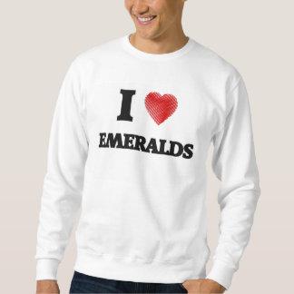 Amo esmeraldas sudadera