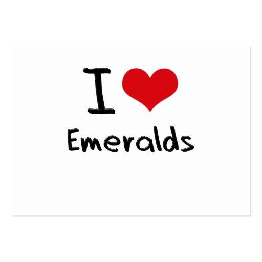Amo esmeraldas tarjetas de visita