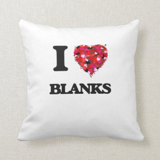 Amo espacios en blanco almohada