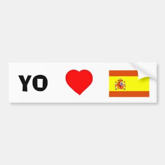 Amo España Etiqueta De Parachoque