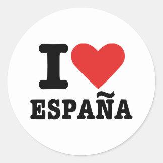 Amo España - España Etiqueta Redonda