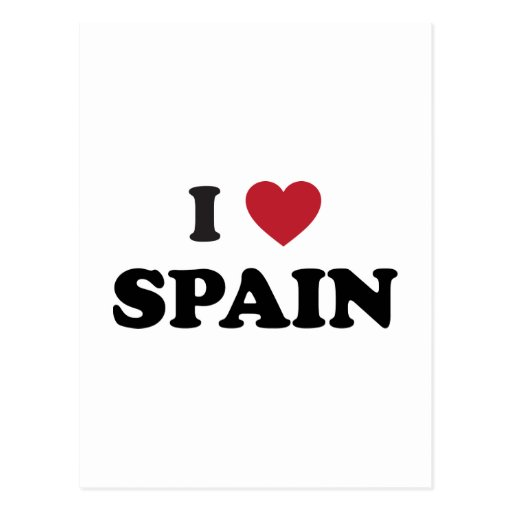 Amo España Tarjeta Postal