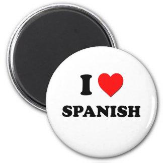 Amo español imán para frigorífico