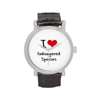 Amo especie en peligro relojes de pulsera