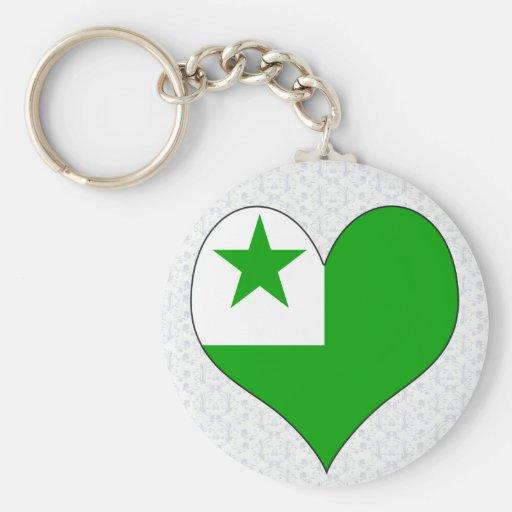 Amo esperanto llavero personalizado