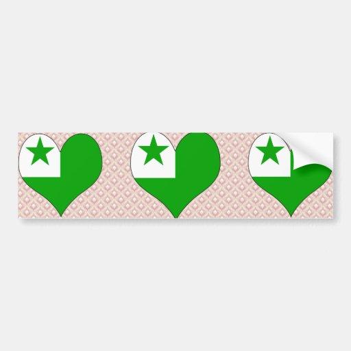 Amo esperanto pegatina para auto