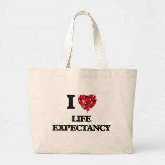 Amo esperanza de vida bolsa tela grande