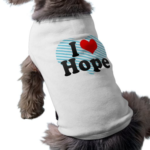 Amo esperanza playera sin mangas para perro