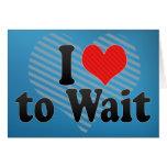 Amo esperar tarjetón