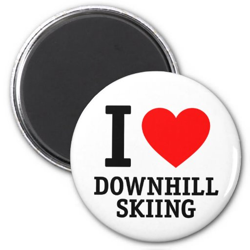 Amo esquí alpino iman