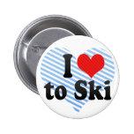 Amo esquiar pin