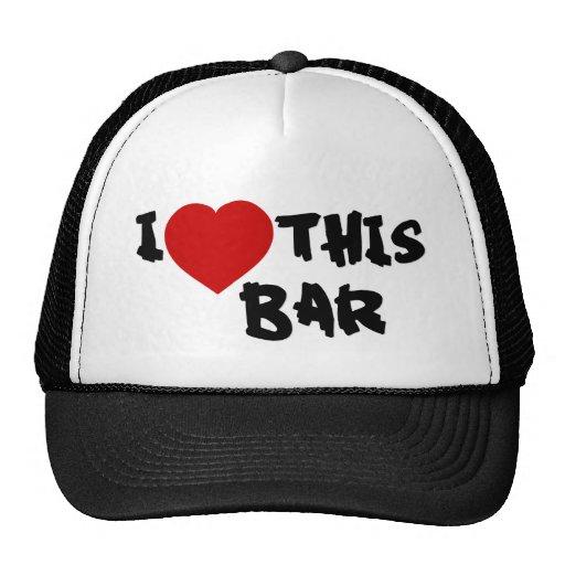 Amo esta barra gorras