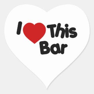 Amo esta barra calcomanías corazones