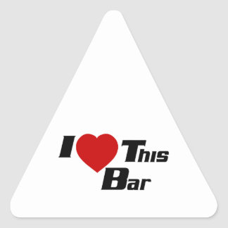 Amo esta barra pegatinas de triangulo personalizadas