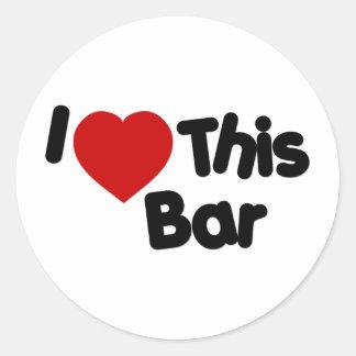 Amo esta barra etiqueta redonda