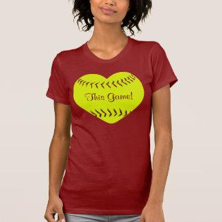Amo esta camiseta del softball de Fastpitch del ju