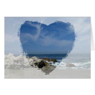 Amo esta playa; El día de madre feliz Tarjeta De Felicitación