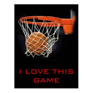 Amo esta postal del baloncesto del juego
