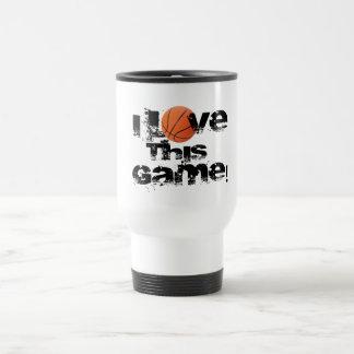 Amo esta taza del viaje del baloncesto del juego