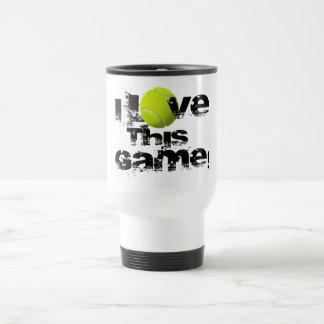 Amo esta taza del viaje del tenis del juego